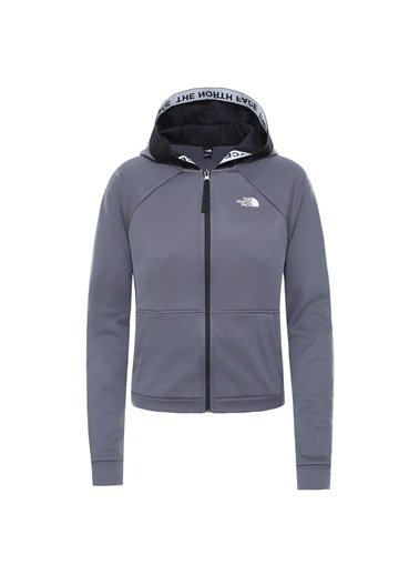 The North Face Train Tam Fermuarlıkadın Sweatshirt Gri Renkli